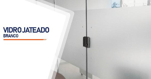 Vidro Jateado Branco Sorocaba